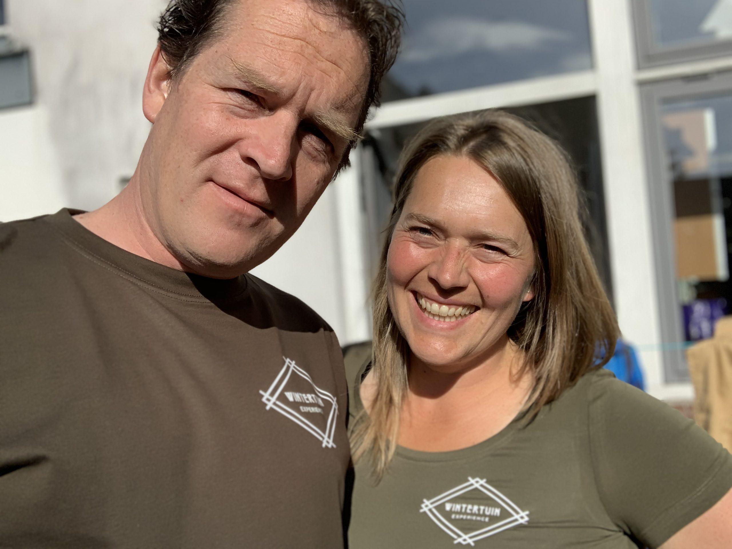 Michiel & Karen. Eigenaren van Wintertuin Experience